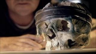 Druid skull wearing a crown