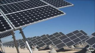 Solar Panels in the Nevada Desert