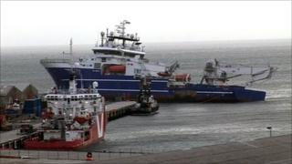 Bibby Topaz aground