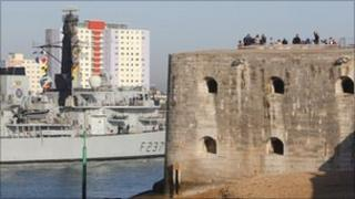 HMS Westminster returns to port