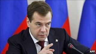 Russian President Dmitry Medvedev, 6 Apr 11
