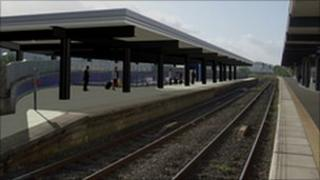 Computer-generated image of new platform four canopy