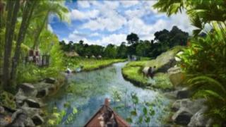 An artists' impression of the Islands experience