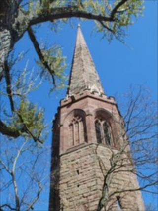 Christ Church spire in Coventry