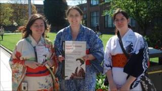 Students in kimonos
