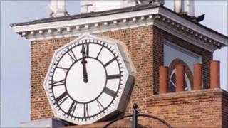 Stockton town hall clock