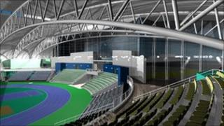Artist's impression of sports arena