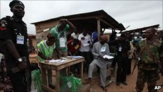 Polling station in Ibadan, Nigeria - 9 April 2011