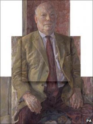 Julian Fellowes portrait by Daphne Todd