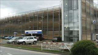 The new multi-storey car park at Gloucestershire Royal Hospital