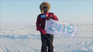 Parker Liautaud at the North Pole