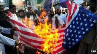 ANti-US protests over Koran burning - March 2011
