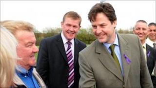 Warren Bradley and Nick Clegg