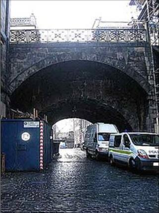 George IV Bridge with Merchant Street below