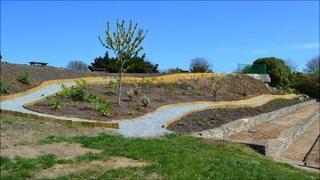Sensory garden at Delancey Park