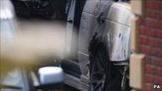 The damage to Andy Carroll's car