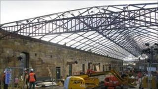 Construction work at Pickering Station. Copyright: NYMR
