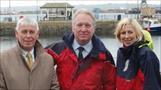 David Ellis, Mike Penning and Sarah Newton in Falmouth