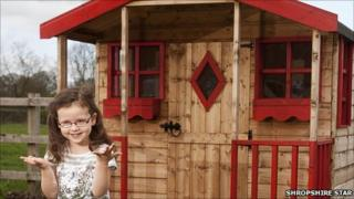 Abigail Gent and her Wendy house