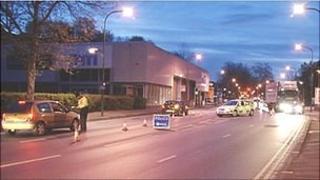 Police in Castle Boulevard