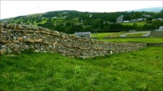 The wall Kevin Marshall rebuilt at Stainton Pastures in Middleton-in-Teesdale