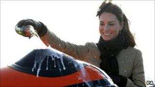 Kate Middleton launches new RNLI boat at Trearddur Bay, Anglesey