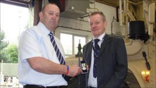 Geoff Lattimer (left) and Keith Mowbray