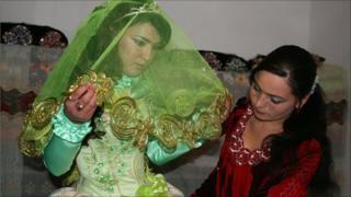 Zebo in her wedding finery