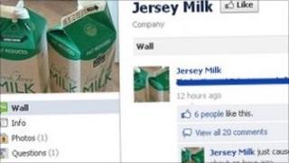 Jersey Milk Facebook page