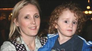 Bev Mathias and son Elliot