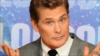 "David Hasselhoff at launch of ""Britain""s Got Talent"""