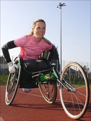 Mel Nicholls, wheelchair racer