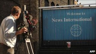 Sign outside News International headquarters