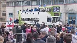 Carlisle United open-top celebration