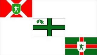 The flags in the BBC Radio Nottingham vote
