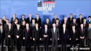 Nato foreign ministers, 15 April 2011, meeting in Berlin
