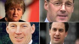 Annabel Goldie, John Swinney, George Lyon and Ed Miliband