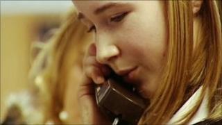 Girl on phone (generic)