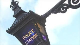 A Metropolitan Police lamp