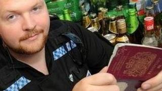 Police with fake IDs