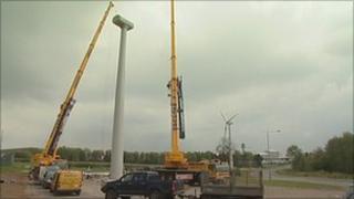 Wind turbine at East Midlands Airport