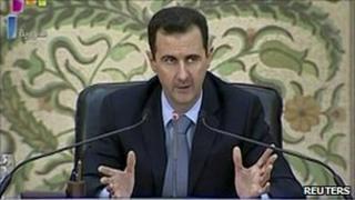 Bashar al-Assad delivers address 16 April 2011