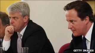 Andrew Lansley and David Cameron