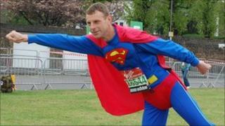 Superman aka David Stone, from Exmouth, in Devon