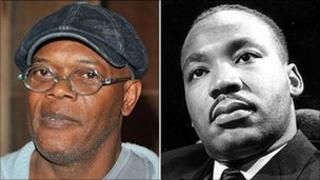 Samuel L Jackson and Martin Luther King