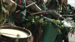 May Day drummers