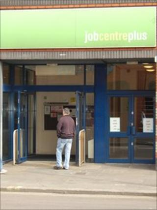Jobcentre in Shepherd's Bush on the day of the strike