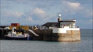 Signal station on the north arm of St Peter Port harbour