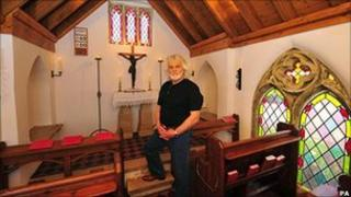 Jon Richards in his chapel