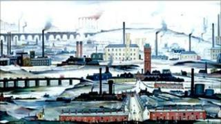 Industrial Landscape, 1955, LS Lowry. Image from Tate